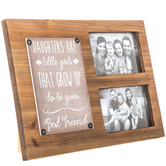 Daughters Are Little Girls Wood Collage Frame